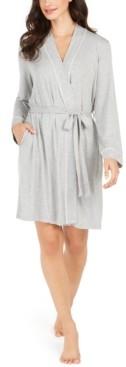Alfani Women's Contrast Trim Short Robe, Created for Macy's