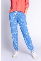 Thumbnail for your product : PJ Salvage Athletic Club Stars Banded Pant, H Bright Blue Large