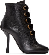 Lanvin - Bottines à oeillets noires