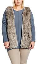 Evans Women's Fur Front Sleeveless Sports Gilet
