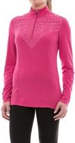 SnowAngel Snow Angel Veluxe Graphic Base Layer Top - Zip Neck, Long Sleeve (For Women)