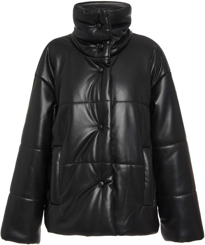 Nanushka Hide Vegan Leather Puffer Coat Size: XS