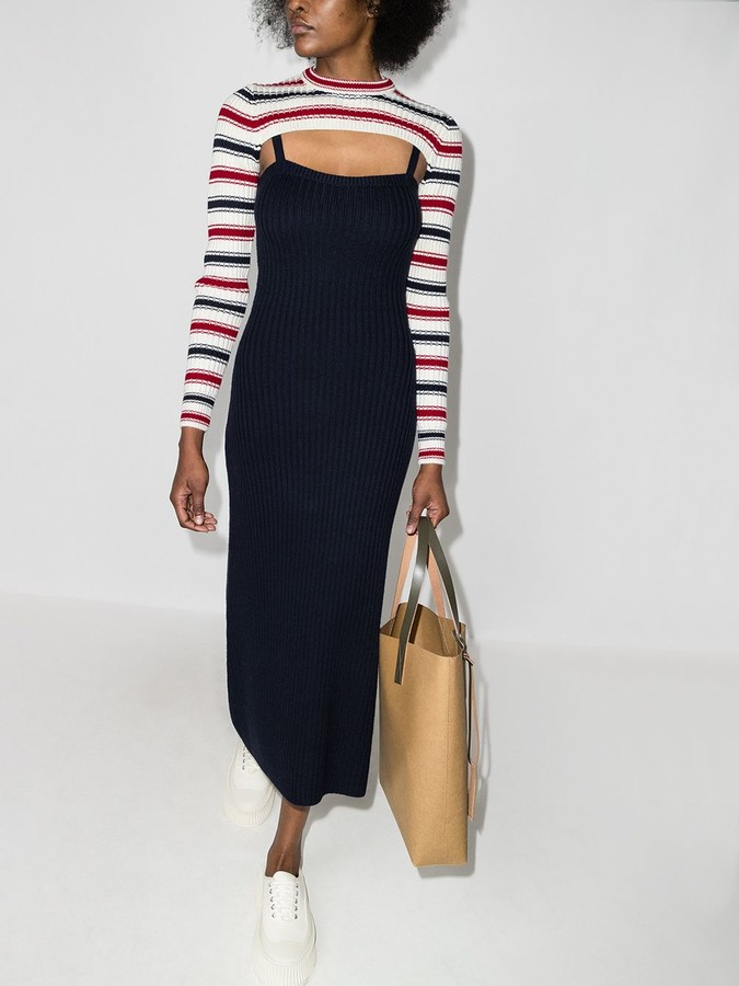 Rosie Assoulin Thousand In One Ways knitted dress