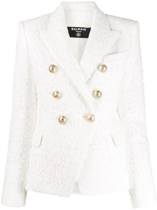 Balmain double-breasted tweed blazer