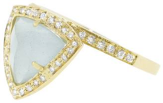 Jacquie Aiche Aquamarine and Diamond Pyramid Ring