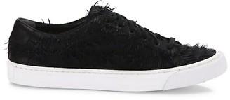 Loeffler Randall Logan Leather Fringed Sneakers
