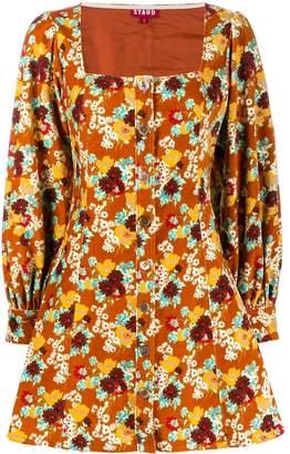 STAUD floral print mini dress