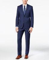 DKNY Men's Slim-Fit Navy Tonal Striped Suit