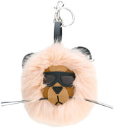 Stella McCartney Lion key ring - women - Artificial Fur/Modal/Artificial Leather - One Size