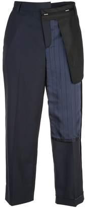 Monse Inside Out Pinstripe Pocket Slim Leg Pants