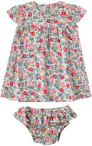 Cath Kidston Walton Rose Baby Scallop Dress And Brief