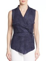 Romeo & Juliet Couture Sueded Wrap Top