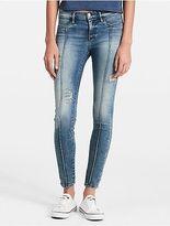 Calvin Klein Womens Super Skinny Destructed Jeans
