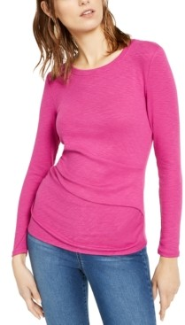 INC International Concepts Inc Long-Sleeve Draped T-Shirt, Created for Macy's