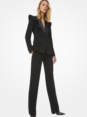 Michael Kors Collection Double Crepe-Sable and Satin Dinner Jacket