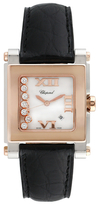 Chopard Vintage Happy Sport Square 18K Rose Gold & 0.12 Total Ct. Diamond Watch, 38mm x 30mm