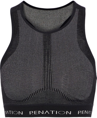 P.E Nation Spin Shot Wool-blend Jacquard Sports Bra