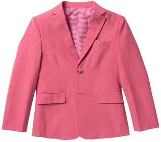 Isaac Mizrahi Textured Cotton Blend Blazer (Toddler, Little Boys & Big Boys)