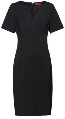HUGO Pencil dress in crease-resistant stretch wool