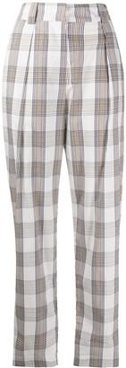 Baum und Pferdgarten Check High-Rise Trousers