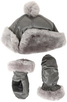 UGG Fabric Pom Hat and Mitten Boxed Set (Toddler/Little Kids)