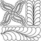 Sten Source Quilt Stencils by Pepper Cory, C. L. Fab, Feathers, 17-Inch by 20-Inch