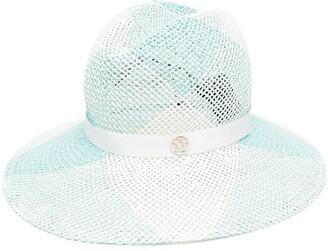 Maison Michel Logo Mesh Fedora Hat