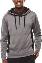Spalding Poly Performance 1/4 Zip Long Sleeve Fleece Hoodie
