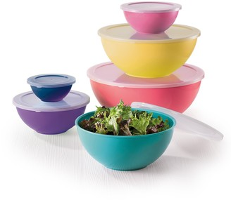 Scullery Kolori Prep Set of 6 Mixing Bowls Multicolour