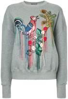 Alexander McQueen embroidered sweatshirt