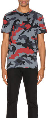 Valentino Camouflage Tee in Red & Grey Camo | FWRD