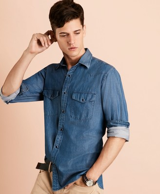 Brooks Brothers Chambray Western Sport Shirt