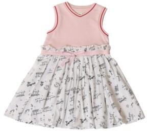 Kinderkind Big Girls Sleeveless Mixed Media Dress