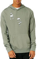 Topman Distressed Fixed Hem Oversized Hoodie