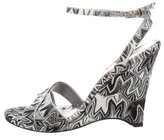 Missoni Woven Ankle-Strap Wedges