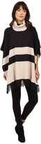 Brigitte Bailey Lany Striped Poncho with Fringe