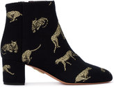 Aquazzura Brooklyn big cat jacquard boots