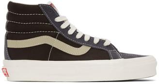 Vans Blue and Brown OG Sk8-Hi LX Sneakers
