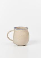 Helen Levi peach with blue rim mug