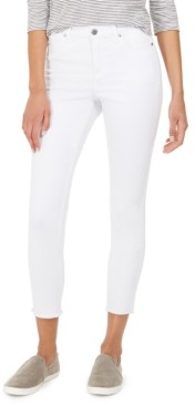 Style&Co. Style & Co Ankle-Fray Denim Jeans, Created for Macy's
