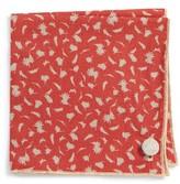 Men's Armstrong & Wilson Pale Flowers Cotton Pocket Square