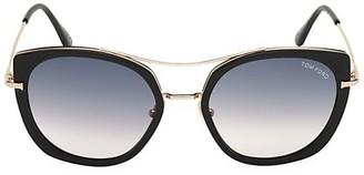 Tom Ford Joey 56MM Gradient Round Sunglasses