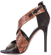 Derek Lam Falyn Snakeskin Sandals