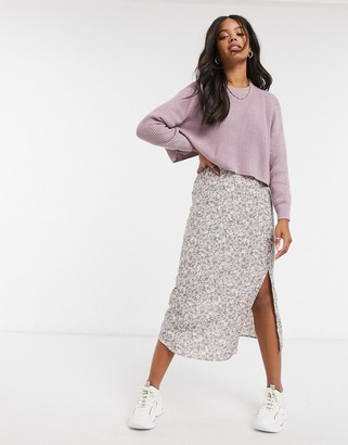 Cotton On Cotton:On cropped knitted crew neck jumper in lilac