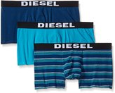 Diesel Men's 3-Pack Shawn Solid/Stripe Cotton Stretch Trunk