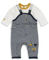 Catimini Baby's Two-Piece Cotton Long-Sleeve Top & Striped Overall Set