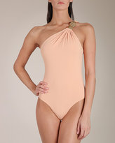 Clube Bossa Solid Jersey One Shoulder Swimsuit