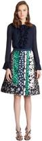 Oscar de la Renta Patchwork Jacquard A-Line Skirt