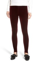 Leith Women's High Waist Velour Stirrup Pants