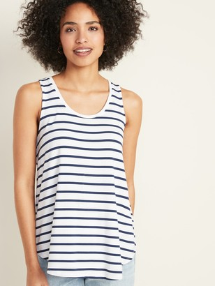 Old Navy Luxe Striped Swing Tank Top for Women
